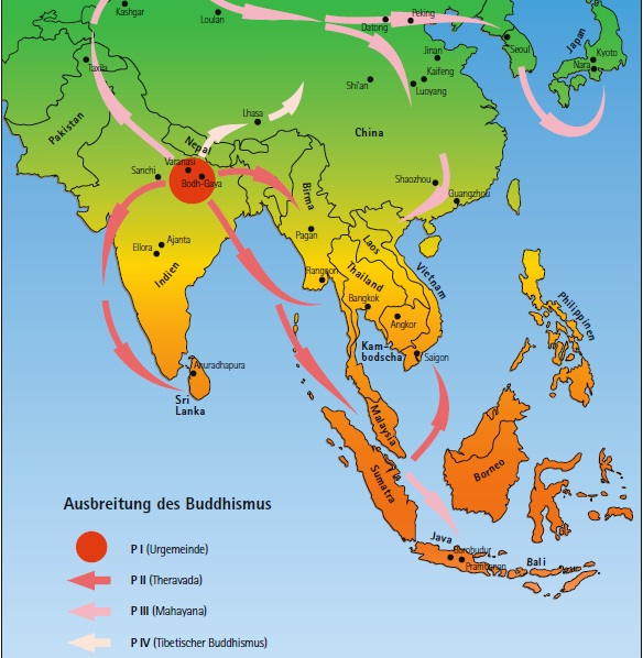 Verbreitung des Buddhismus weltweit