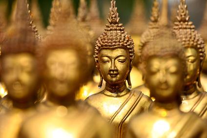 Buddhafiguren als Deko