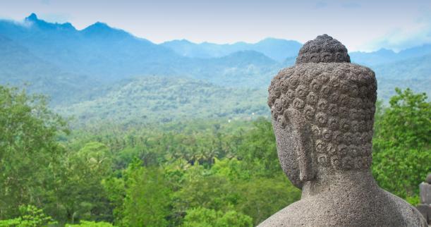 Buddhastatue in Indonesien