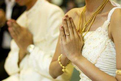 Thailändische Hochzeitszeremonie