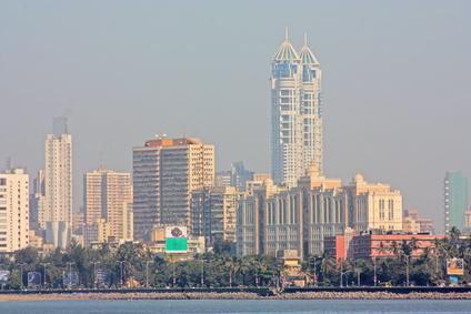 Blick auf die Skyline von Bombay