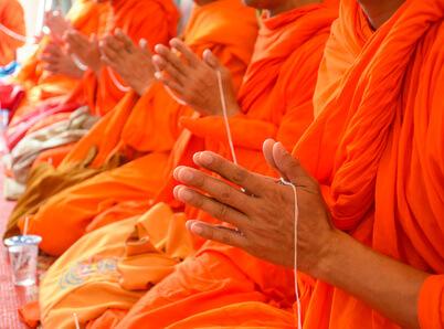 Die Lebensweise von buddhistischen Mönchen