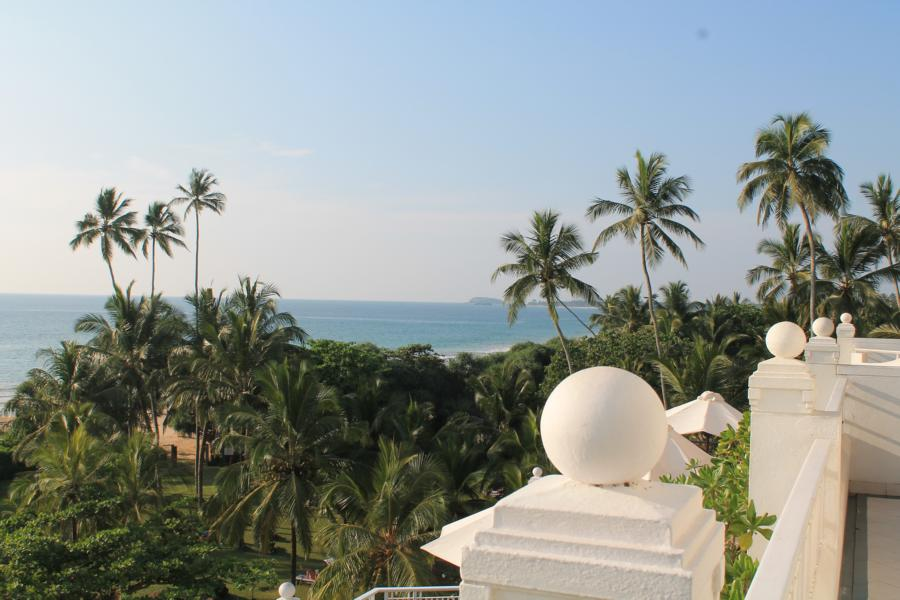 Blick vom Balkon des Hotels Vivanta by Taj