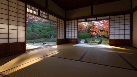 Japanische Shoji Schiebewände - leicht und verspielt