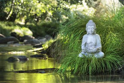 Die Buddha Statue als Dekorationselement